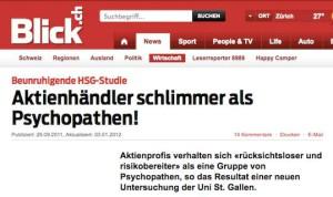 Banker schlimmer als Psychopathen